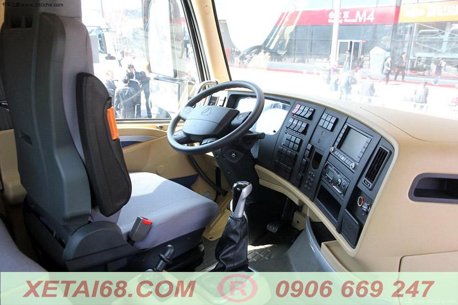 Cabin T7H trên xe Howo 440hp man