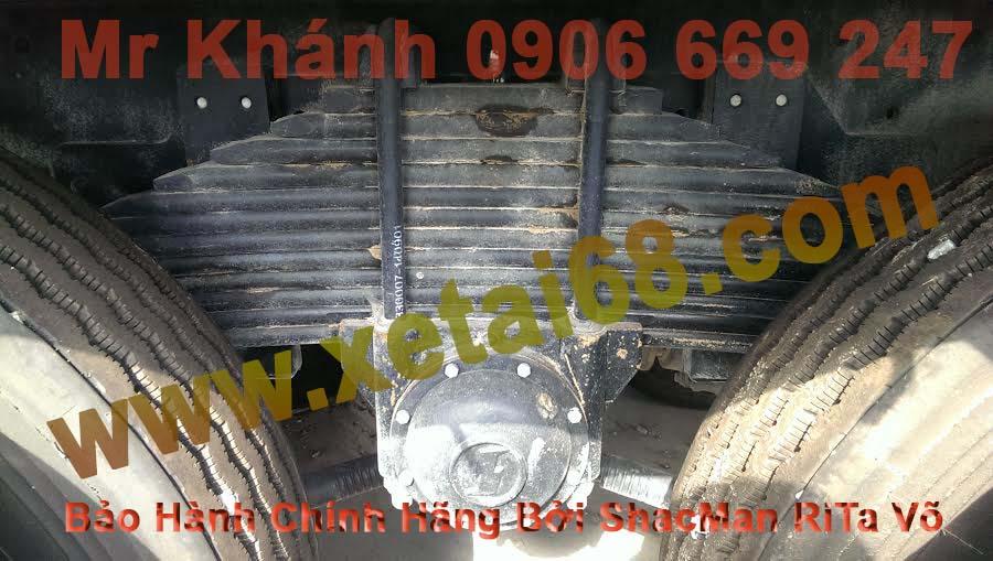 hệ thống nhíp sau xe tải thùng 4 chân shacman