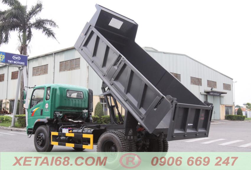 Thùng ben 7 khối trên xe ben howo 8,5 tấn