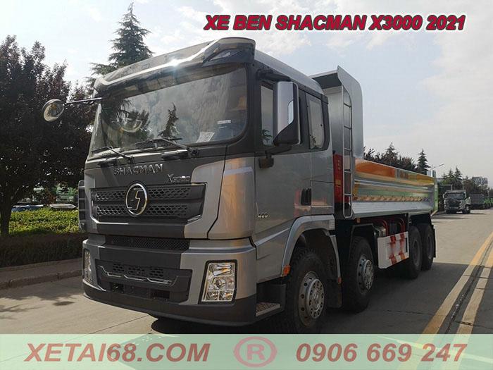 Cabin X3000 cho xe ben shacman 4 chân 2021